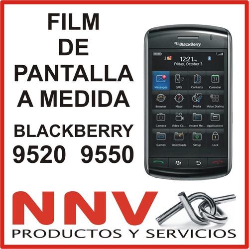 film protector de pantalla a medida de blackberry 9520 9550