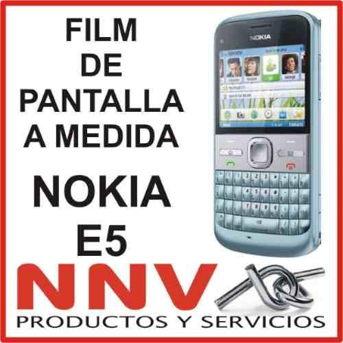 film protector de pantalla a medida de nokia e5 - nnv