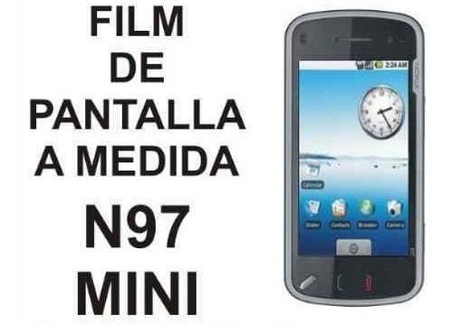 film protector de pantalla a medida de nokia n97 mini - nnv