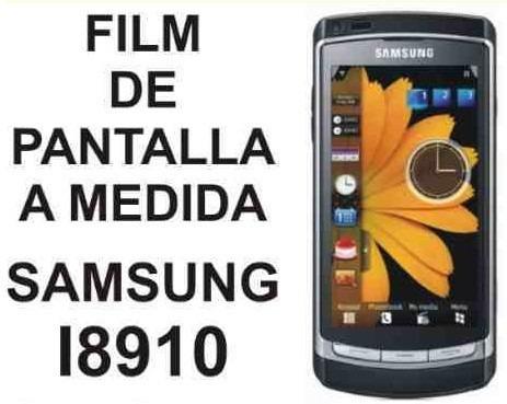 film protector de pantalla a medida de samsung i8910 - nnv