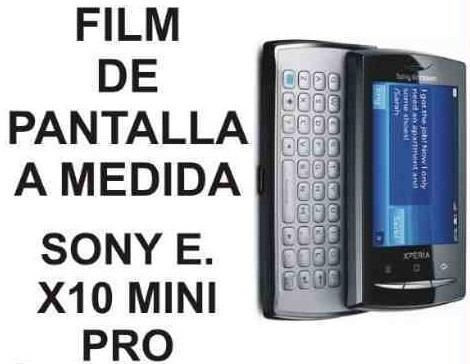 film protector de pantalla a medida de sony e. x10 mini pro