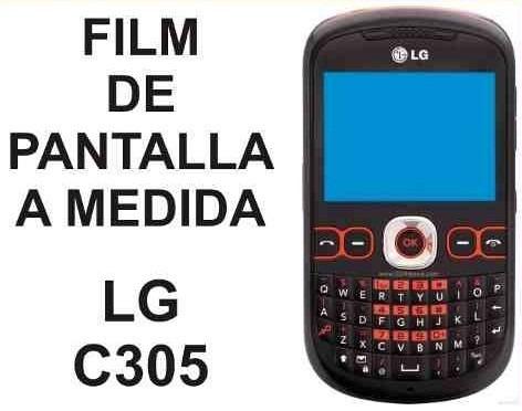 film protector de pantalla a medida lg c305 - nnv