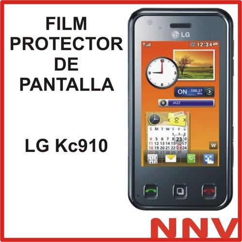 film protector de pantalla a medida lg kc910 - nnv