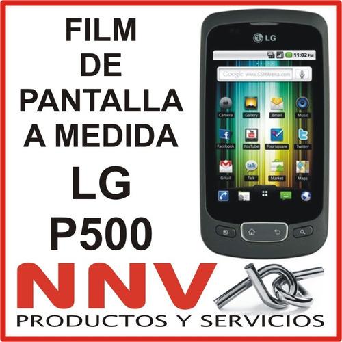 film protector de pantalla a medida lg p500 optimus one