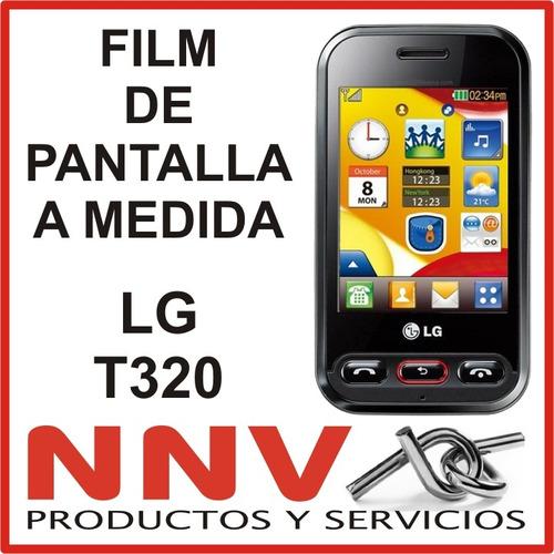 film protector de pantalla a medida lg t320 - nnv