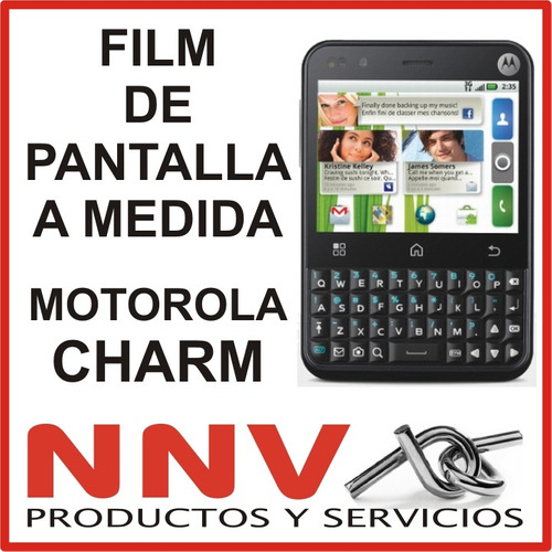 film protector de pantalla a medida motorola charm - nnv