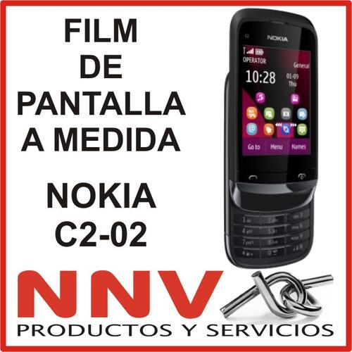 film protector de pantalla a medida nokia c2-02 c2 02 - nnv
