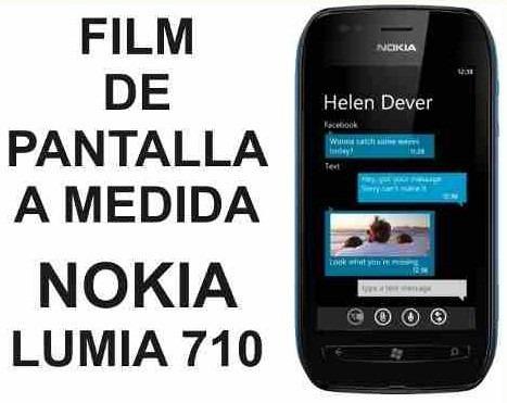 film protector de pantalla a medida nokia lumia 710 - nnv