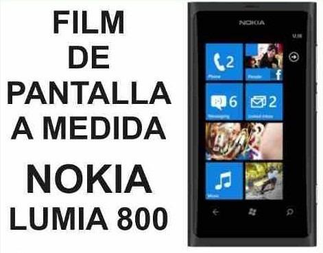 film protector de pantalla a medida nokia lumia 800 - nnv