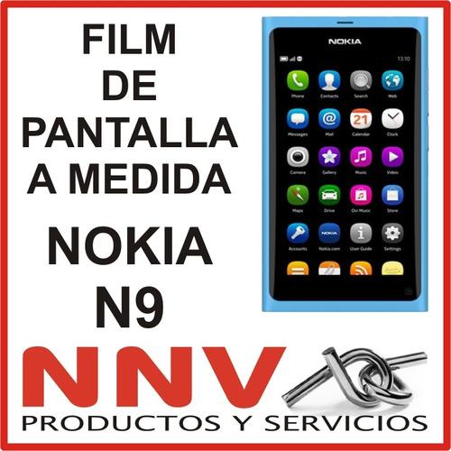 film protector de pantalla a medida nokia n9 - nnv