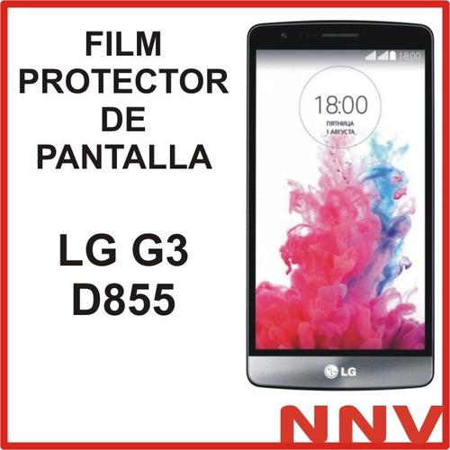 film protector de pantalla a medida para lg g3 d855