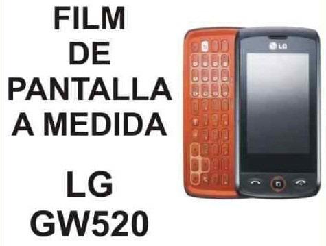 film protector de pantalla a medida para lg gw520 - nnv