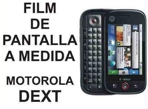 film protector de pantalla a medida para motorola dext - nnv