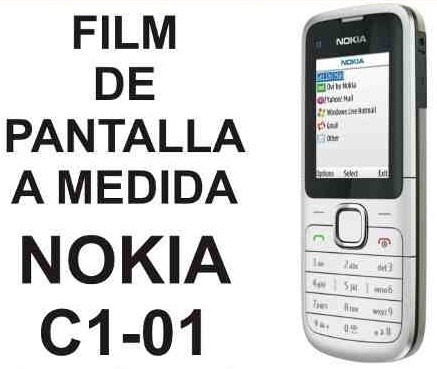 film protector de pantalla a medida para nokia c1 c1-01