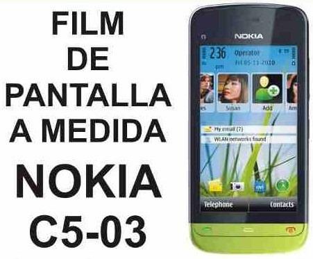 film protector de pantalla a medida para nokia c5 c5-03 03