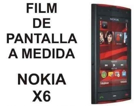 film protector de pantalla a medida para nokia x6 - nnv