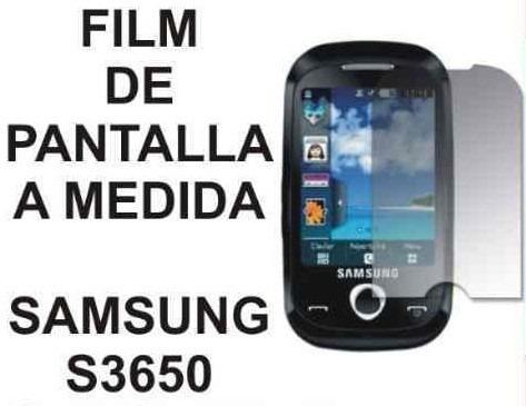 film protector de pantalla a medida para samsung s3650 corby