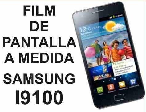 film protector de pantalla a medida samsung i9100 galaxy s2