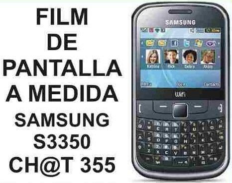 film protector de pantalla a medida samsung s3350 chat 355