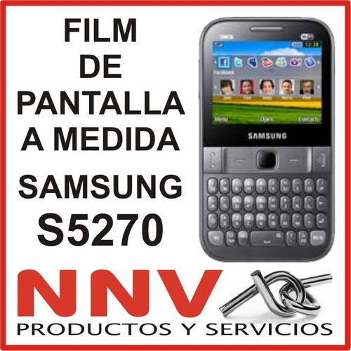 film protector de pantalla a medida samsung s5270 - nnv