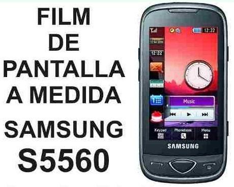film protector de pantalla a medida samsung s5560 - nnv