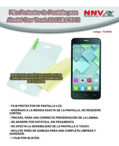 film protector de pantalla alcatel one touch idol mini 6012