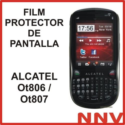 film protector de pantalla alcatel ot806 ot807 - nnv