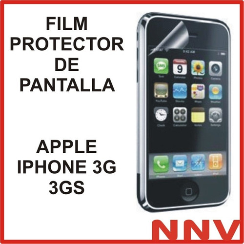 film protector de pantalla apple iphone 3g 3gs nnv