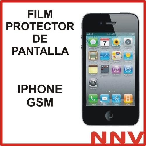 film protector de pantalla apple iphone gsm nnv