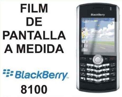 film protector de pantalla de blackberry 8100 8110 9120