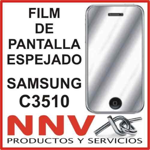 film protector de pantalla espejado de samsung c3510 - nnv