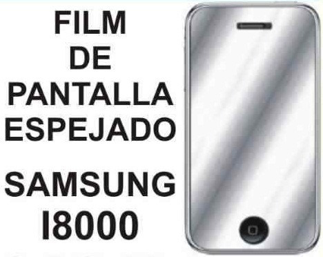 film protector de pantalla espejado de samsung i8000 omnia 2