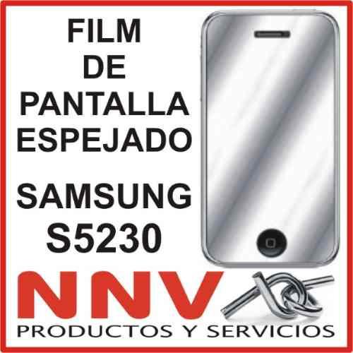 film protector de pantalla espejado de samsung s5230 star