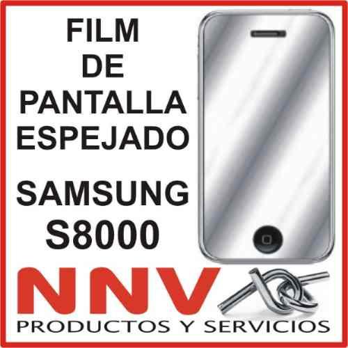 film protector de pantalla espejado de samsung s8000 jet