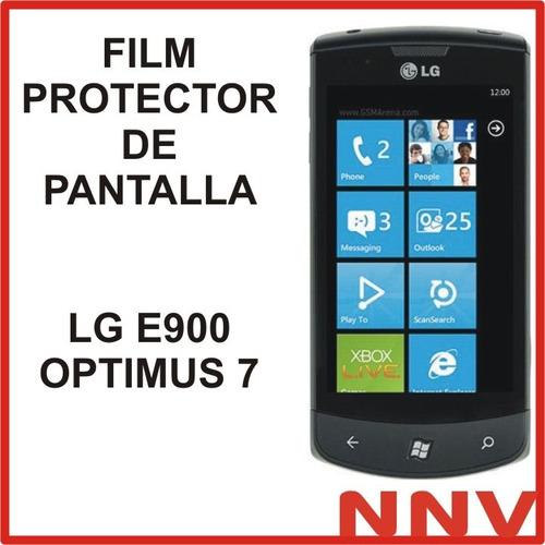 film protector de pantalla lg e900 optimus 7 - nnv
