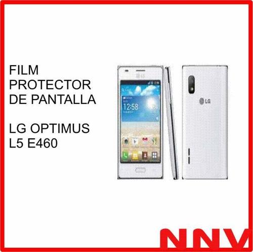 film protector de pantalla lg optimus l5 e460 - nnv