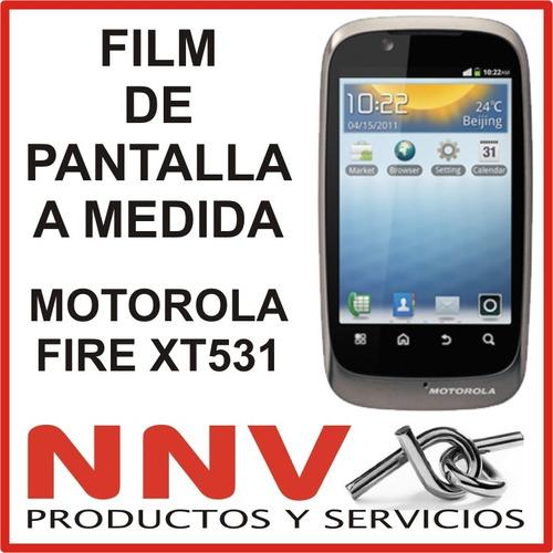 film protector de pantalla motorola fire spice xt531 - nnv