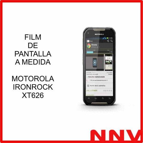 film protector de pantalla motorola ironrock xt 626 xt626