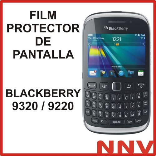 film protector de pantalla para blackberry 9320 9220 - nnv