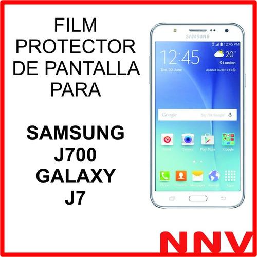 film protector de pantalla para samsung j700 galaxy j7 neo