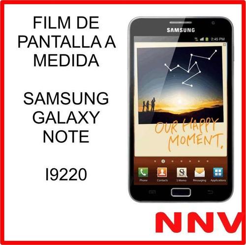 film protector de pantalla samsung galaxy note i9220 nnv