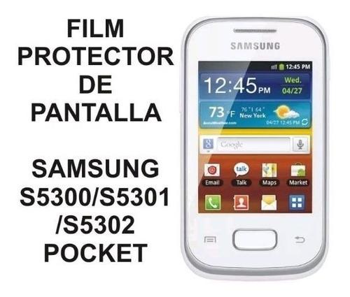 film protector de pantalla samsung pocket s5300 s5301 s5302