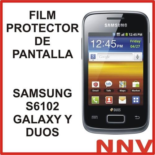 film protector de pantalla samsung s6102 galaxy y duos - nnv