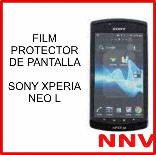 film protector de pantalla sony xperia neo l - nnv