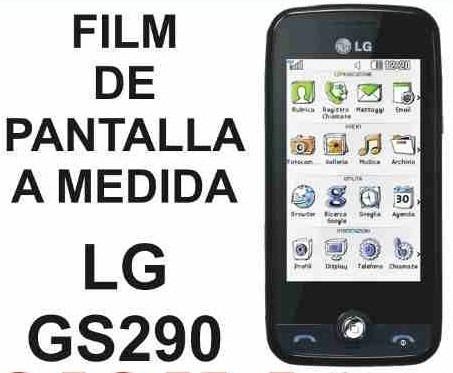 film protector de pantalla tricapa a medida de lg gs290