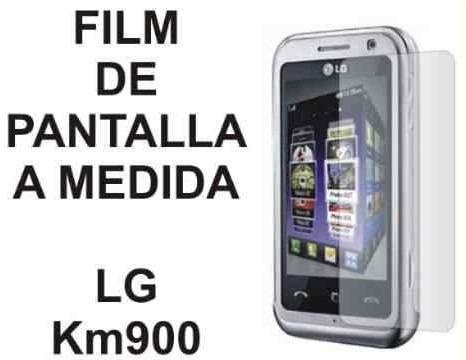 film protector de pantalla tricapa a medida de lg km900