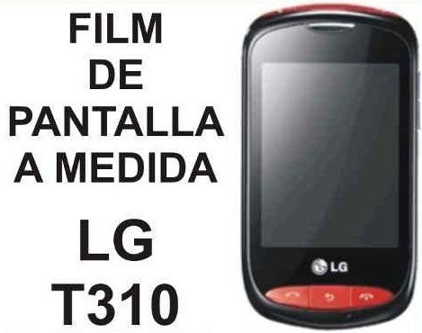 film protector de pantalla tricapa a medida de lg t310