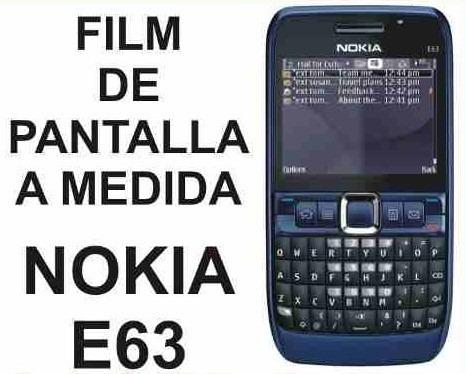 film protector de pantalla tricapa a medida de nokia e63
