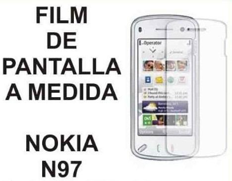film protector de pantalla tricapa a medida de nokia n97
