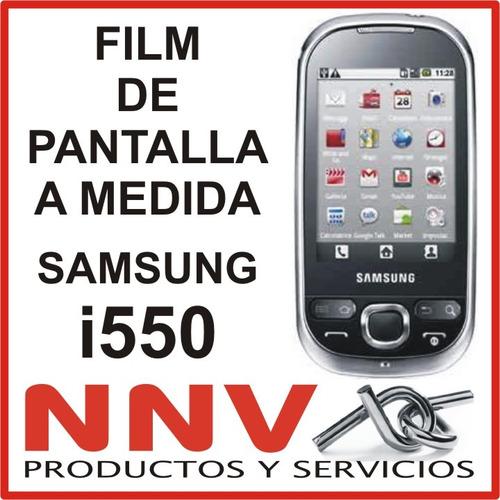 film protector de pantalla tricapa a medida de samsung i550